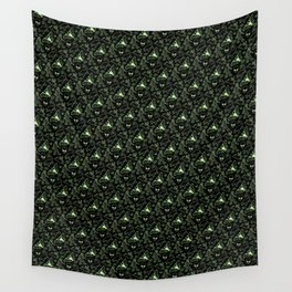 Cryptid Pattern: Green Lines Wall Tapestry