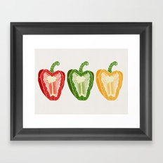 Mixed Peppers Framed Art Print