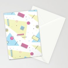 Retro Memphis Pattern Design Stationery Cards