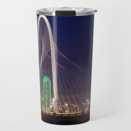 Arched Pathway to Dallas in Lights Travel Mug