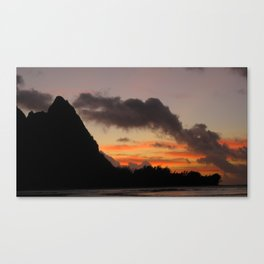 Sunset at Tunnels Beach Canvas Print
