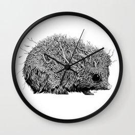 Leaf Hedgehog Wall Clock