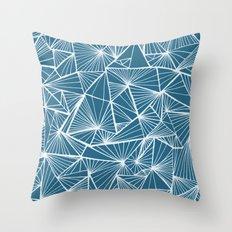 Triangular Texture - Reverse Blue Throw Pillow