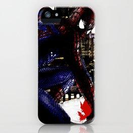 Spiderman in London iPhone Case