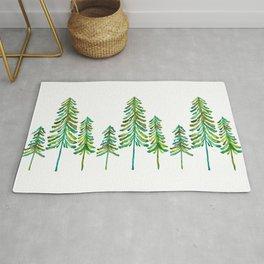 Pine Trees – Green Palette Rug
