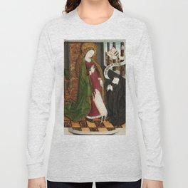 Kneeling in Adoration before Saint Agnes Long Sleeve T-shirt