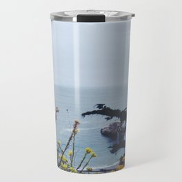 Floral Coast at Dusk Travel Mug