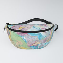 USGS Geological Map of North America Fanny Pack