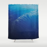 plane Shower Curtains featuring Plane view by Jamie de Leeuw