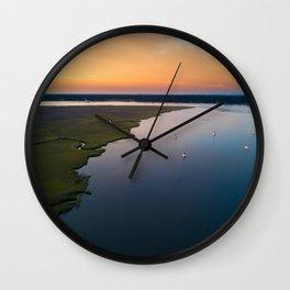 Stono River Sailboats Wall Clock