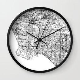 Abstract Map of Los Angeles, California Wall Clock