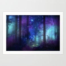 Out of the dark mystic light Art Print