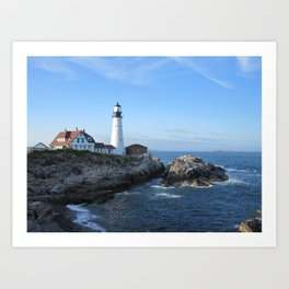 Portland Headlight 2 Art Print