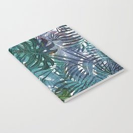 Aloha - Tropical Palm Leaves and Monstera Leaf Garden Notebook