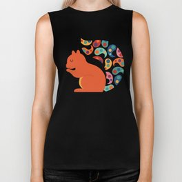 Paisley Squirrel Biker Tank