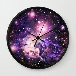 Fox Fur Nebula : Pink Purple Galaxy Wall Clock