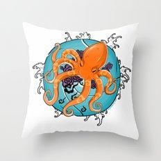 Hexapus Ink 2 Throw Pillow