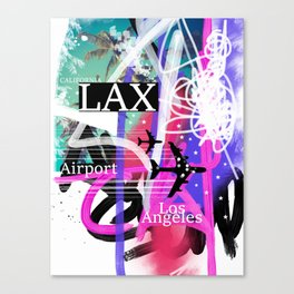 LAX Los Angeles airport code Canvas Print