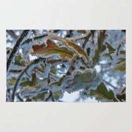 Frosty Leaf Rug