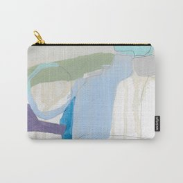 stone by stone 3 - abstract art fresh color turquoise, mint, purple, white, gray Carry-All Pouch