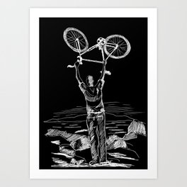 Bike Contemplation Art Print