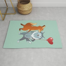 Fox And Wolf Rug