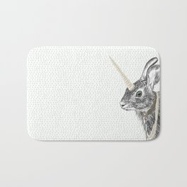 uni-hare All animals are magical Bath Mat