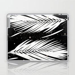 Boho Palm Leaves on Black Laptop & iPad Skin