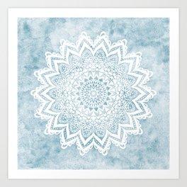 LIGHT BLUE MANDALA SAVANAH Art Print