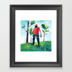 Forest Man Framed Art Print