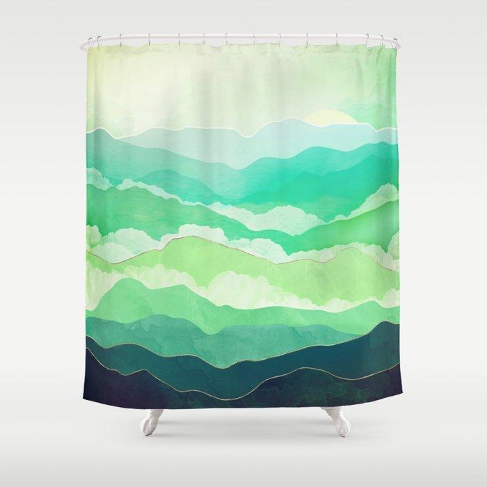 Emerald Spring Shower Curtain
