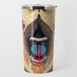 Majestic Mandrill Travel Mug