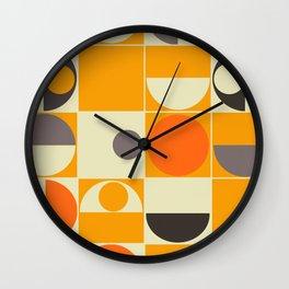 PANTON ORANGE Wall Clock