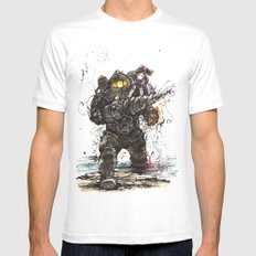 Bioshock Subject Delta and Little Sister Mens Fitted Tee White MEDIUM