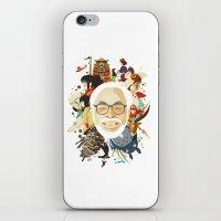 hayao miyazaki iPhone & iPod Skins featuring Miyazaki-San by Danny Haas