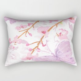 butterflies watecolor Rectangular Pillow