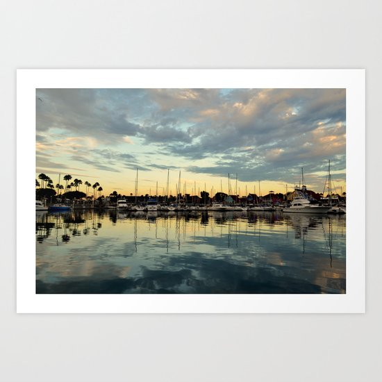 Shoreline Village Marina Art Print