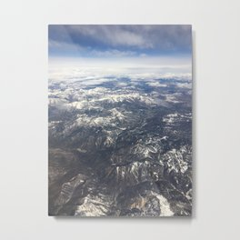 Flying over the Sierra Nevada Mountains Metal Print