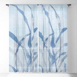 beach grass Sheer Curtain