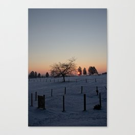 Winter Landscape Malmedy 2 Canvas Print