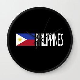 Philippines: Filipino Flag & Philipinnes Wall Clock