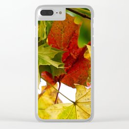 autumn leaves by Janina Clear iPhone Case