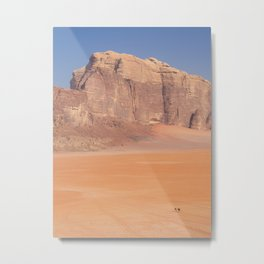Tiny human with his camels in the Wadi Rum desert | Jordan travel photography Metal Print