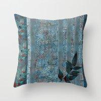 leaf Throw Pillows featuring Leaf by dominiquelandau