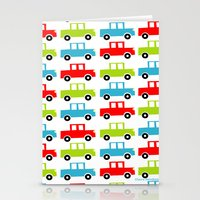 cars Stationery Cards featuring cars by laura mendoza v.