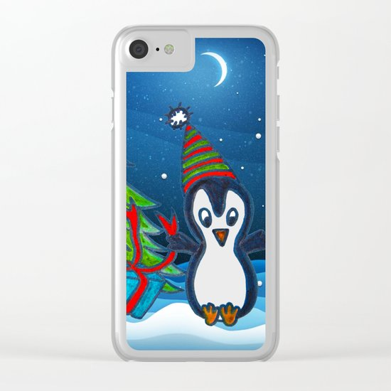 Christmas Gifts | Christmas Spirit | Kids Painting Clear iPhone Case