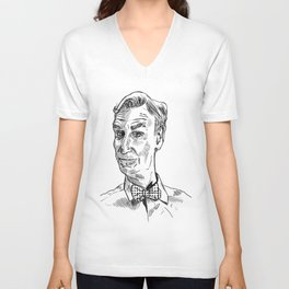 Bill Nye Portrait Unisex V-Neck