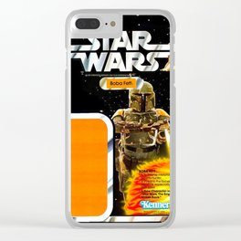 Boba Fett Vintage Action Figure Card Clear iPhone Case