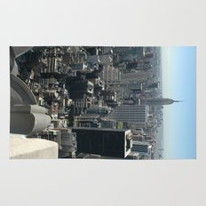 New York Empire State with Skyline and blue sky Rug