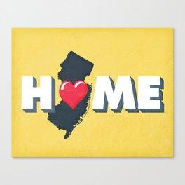 NJ is Home Canvas Print